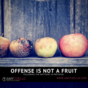 Offense is Not a Fruit – Following the Matthew 18 Protocol